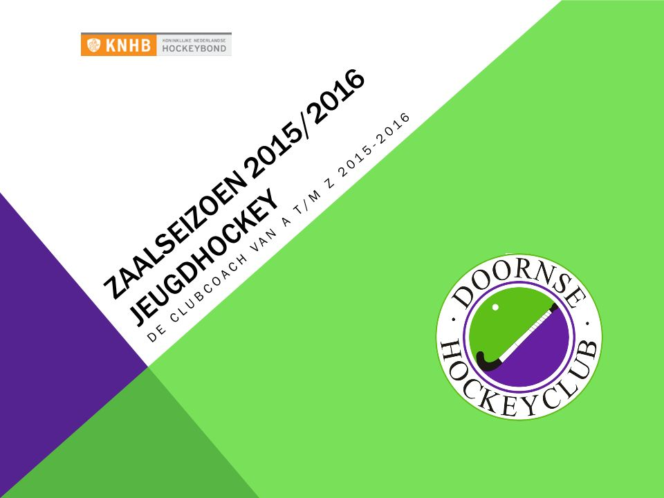 Zaalseizoen 2015/2016 Jeugdhockey
