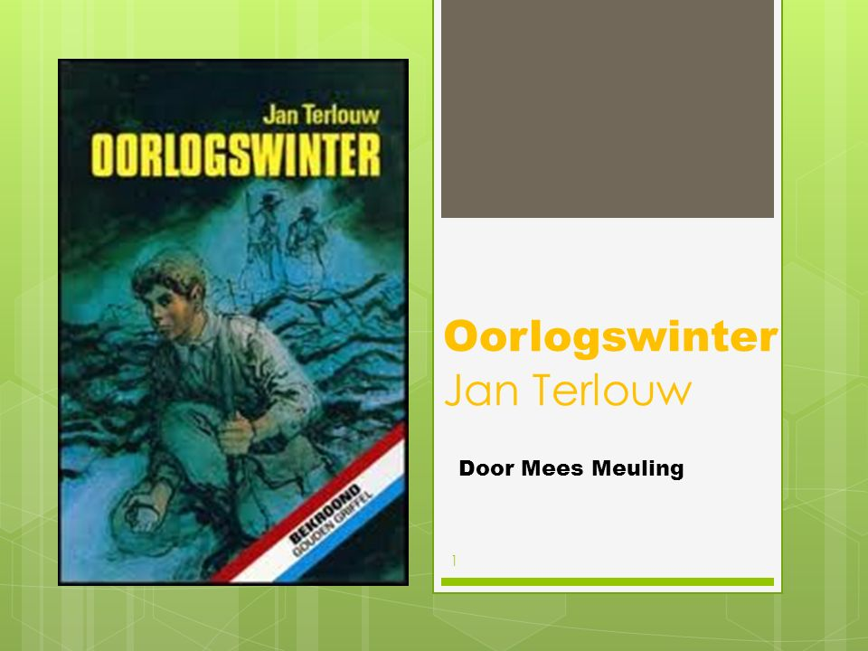 Oorlogswinter Jan Terlouw