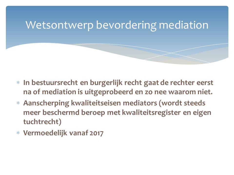 Wetsontwerp bevordering mediation