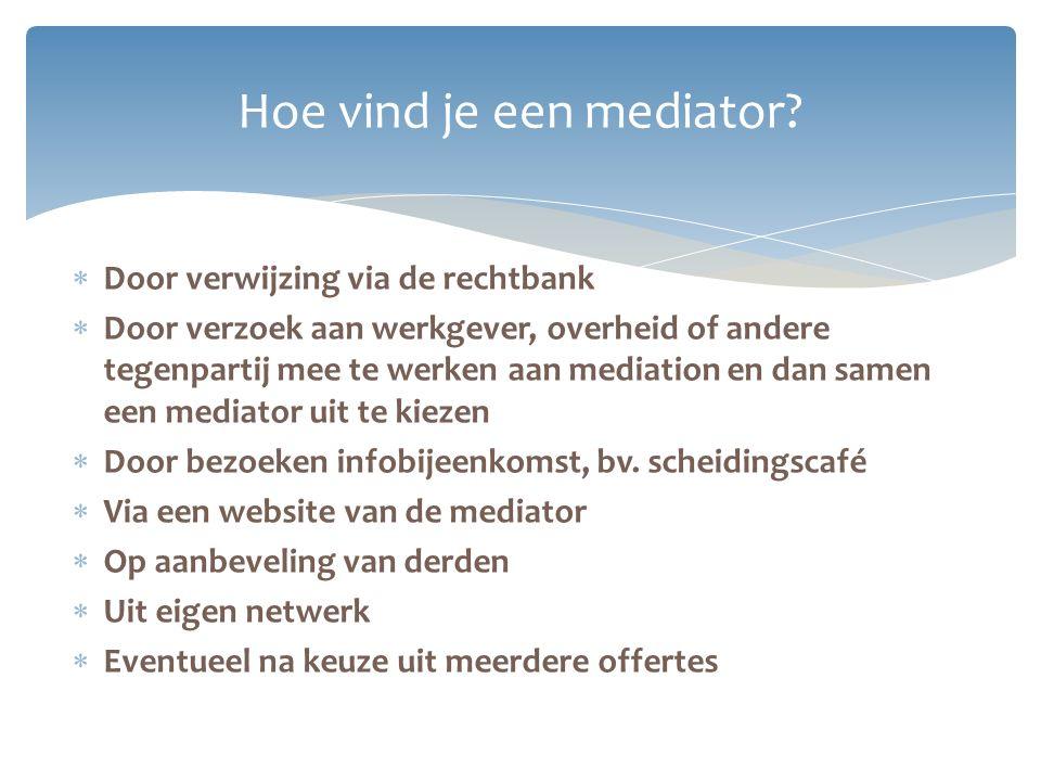 Hoe vind je een mediator