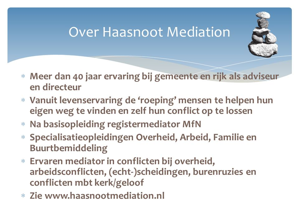 Over Haasnoot Mediation