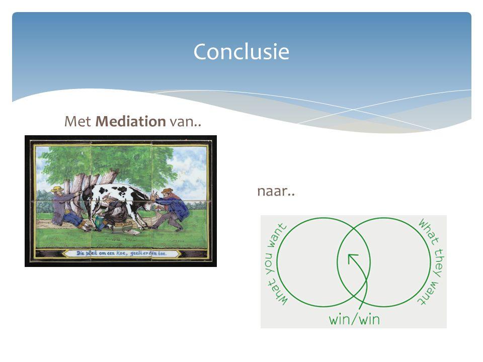 Conclusie Met Mediation van.. naar..