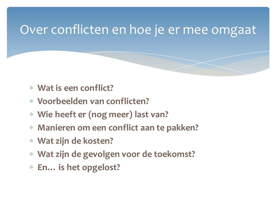 Over conflicten en hoe je er mee omgaat