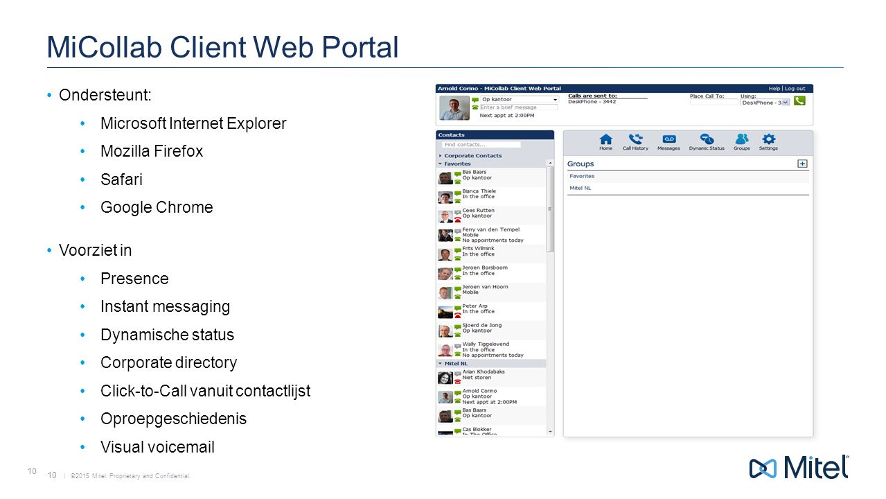 MiCollab Client Web Portal