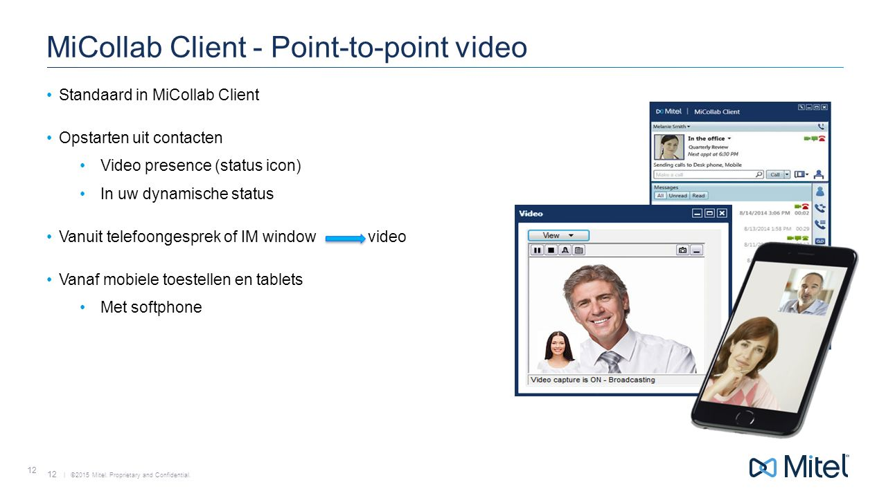 MiCollab Client - Point-to-point video