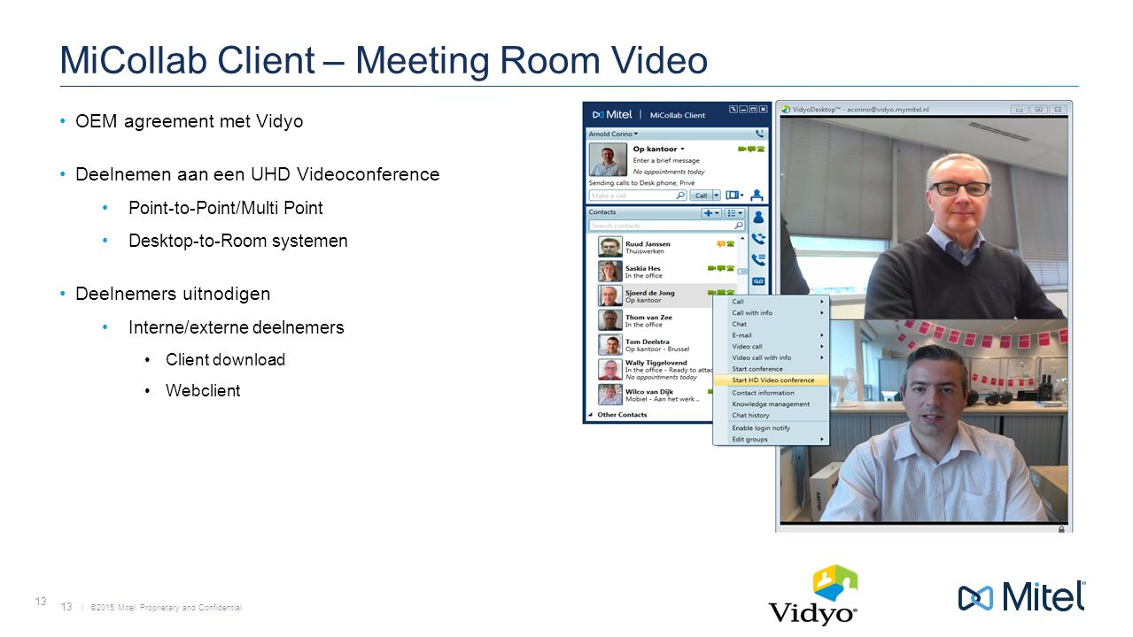 MiCollab Client – Meeting Room Video