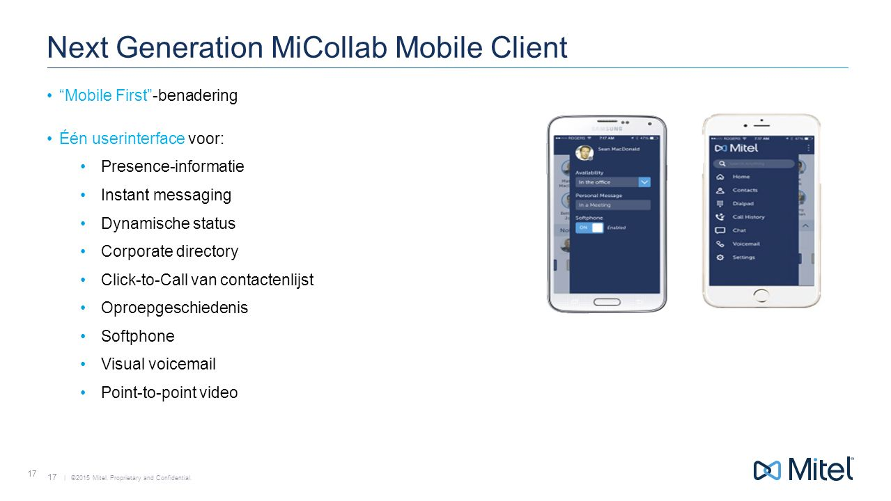 Next Generation MiCollab Mobile Client