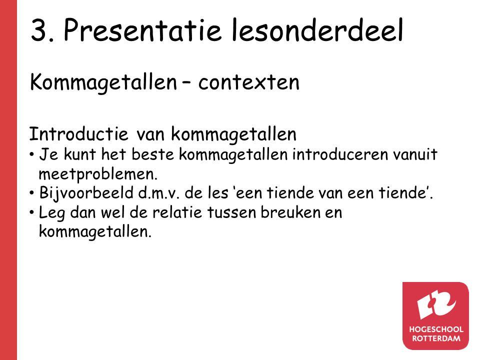 3. Presentatie lesonderdeel