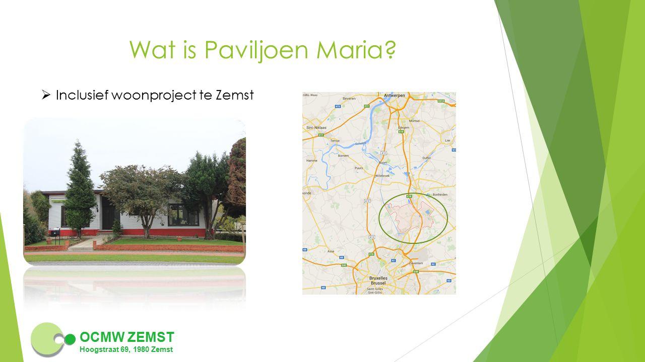 Wat is Paviljoen Maria Inclusief woonproject te Zemst