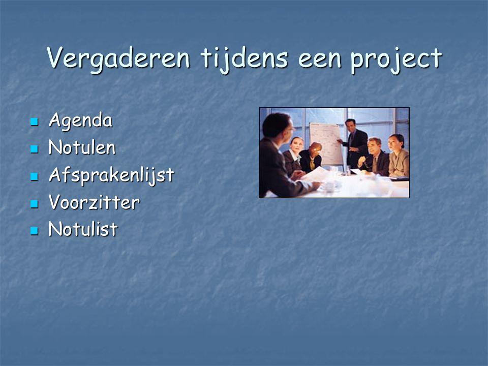 Vergaderen tijdens een project