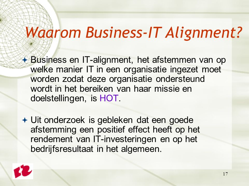 Waarom Business-IT Alignment