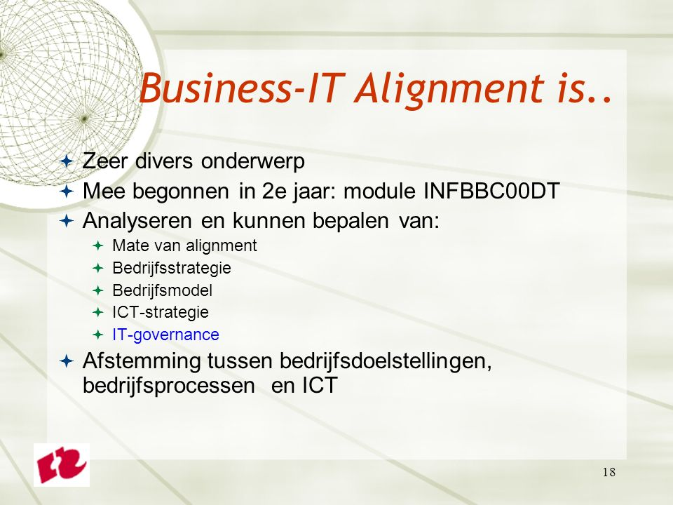Business-IT Alignment is..