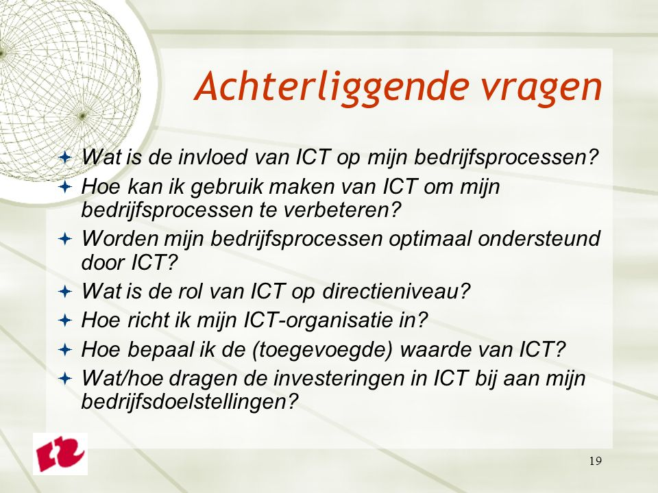 Project ictpba01vx business it alignment voor 2e jaars ad ict service management studiejaar 2013 - Hoe de studio te verbeteren ...