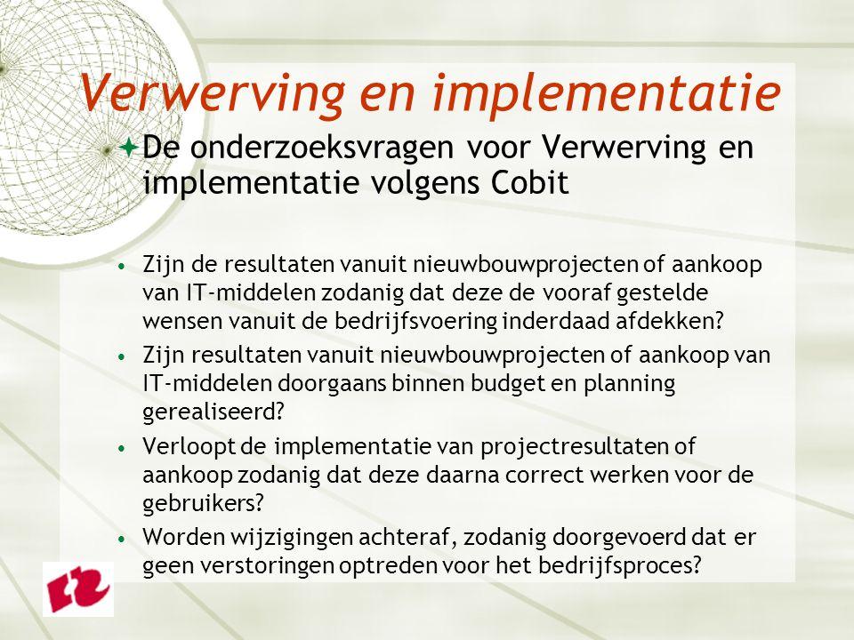 Verwerving en implementatie
