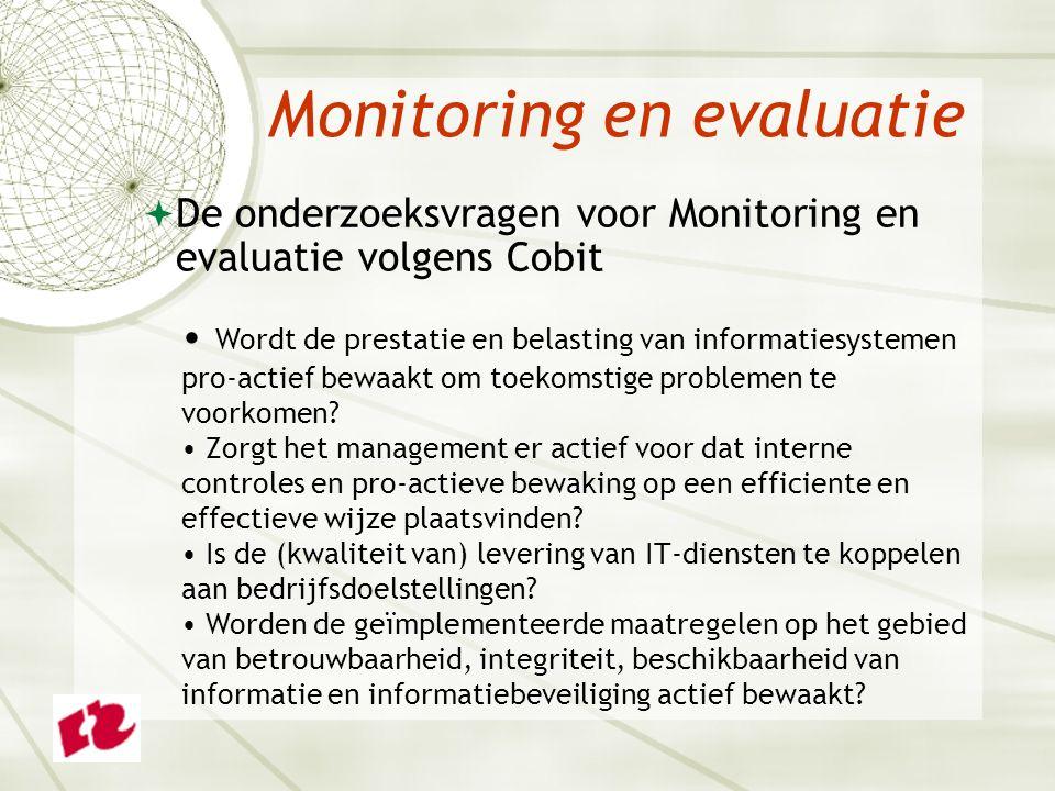 Monitoring en evaluatie