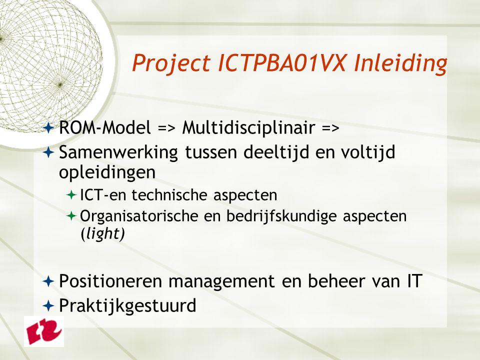 Project ICTPBA01VX Inleiding