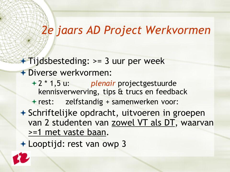 2e jaars AD Project Werkvormen