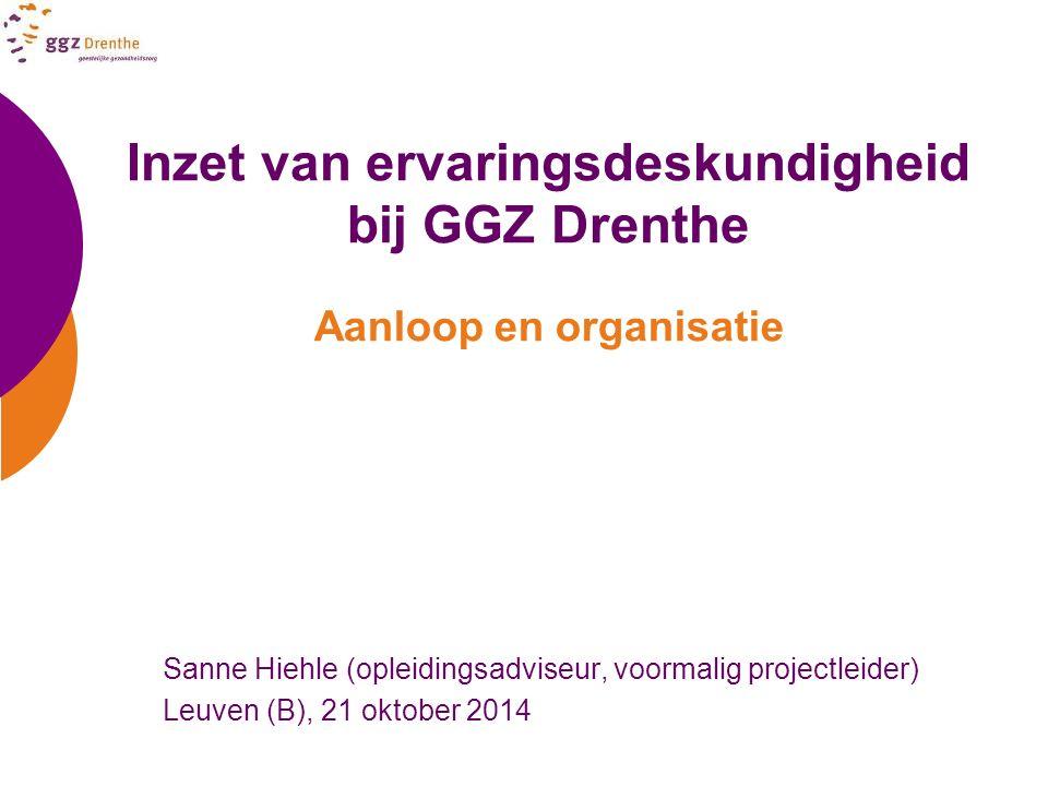Inzet van ervaringsdeskundigheid bij GGZ Drenthe