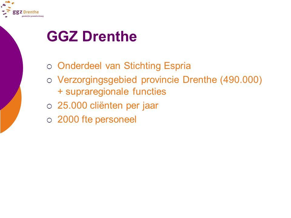 GGZ Drenthe Onderdeel van Stichting Espria
