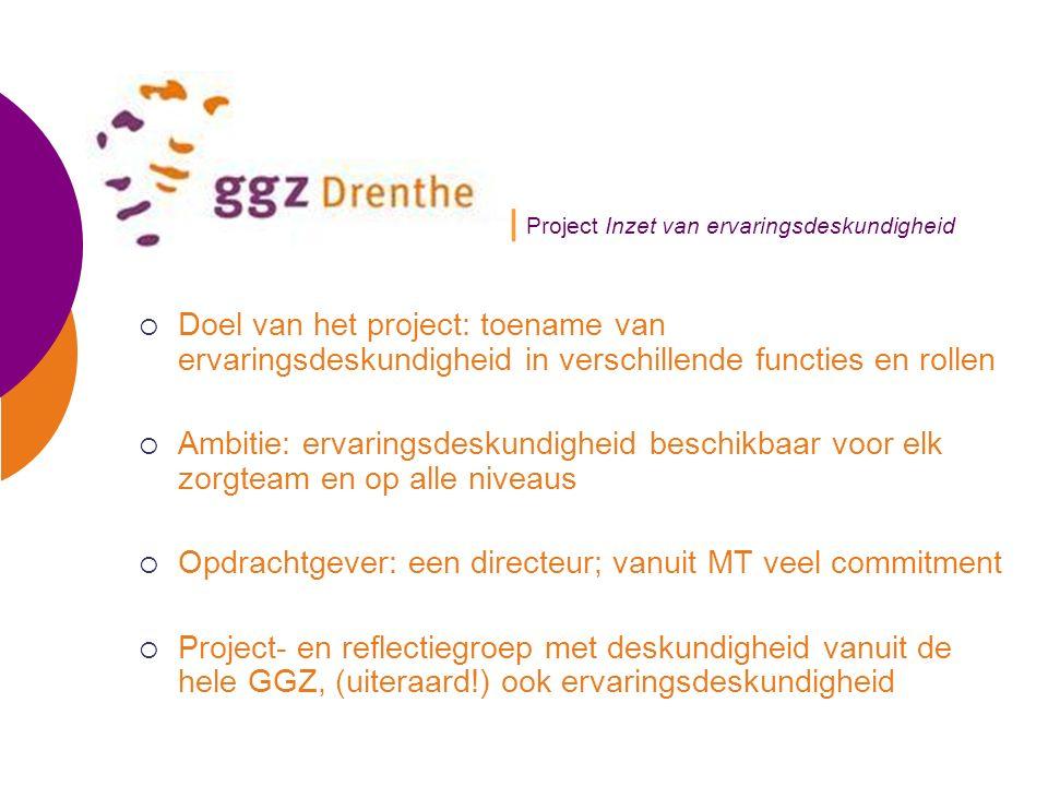 | Project Inzet van ervaringsdeskundigheid