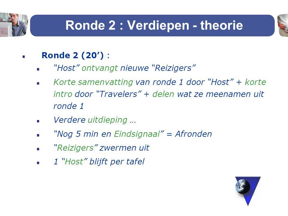 Ronde 2 : Verdiepen - theorie