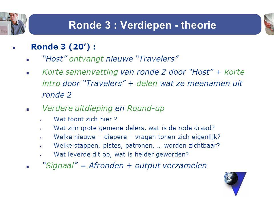 Ronde 3 : Verdiepen - theorie