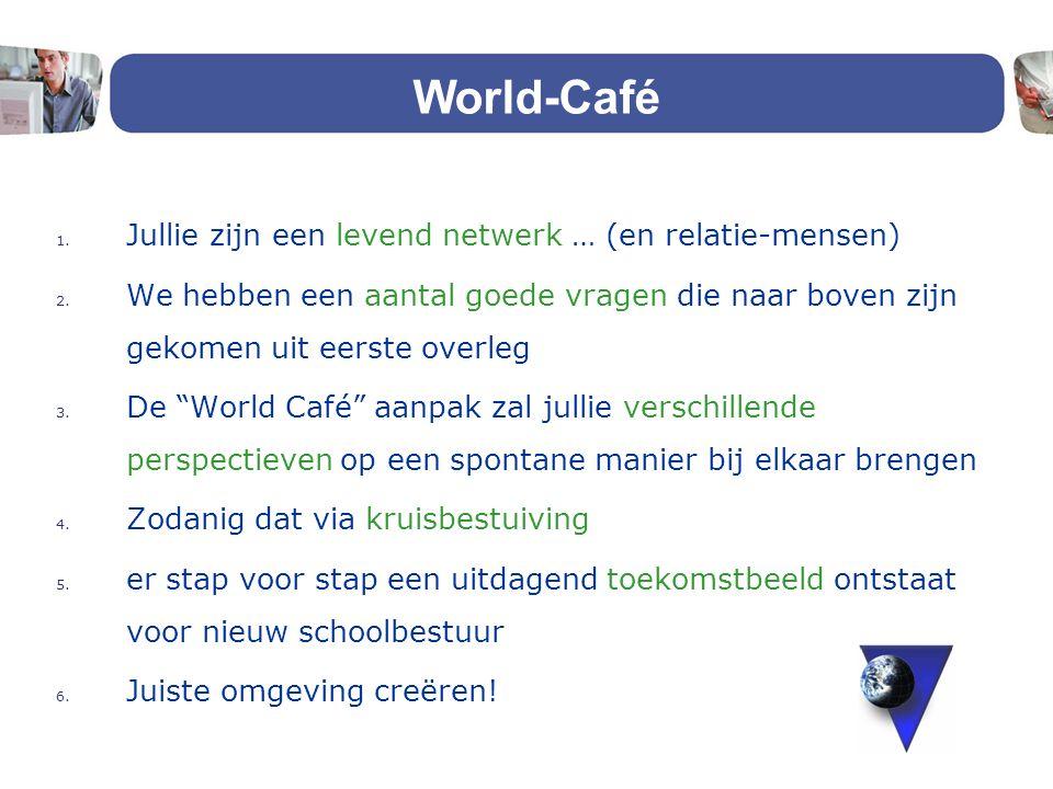 World-Café Jullie zijn een levend netwerk … (en relatie-mensen)