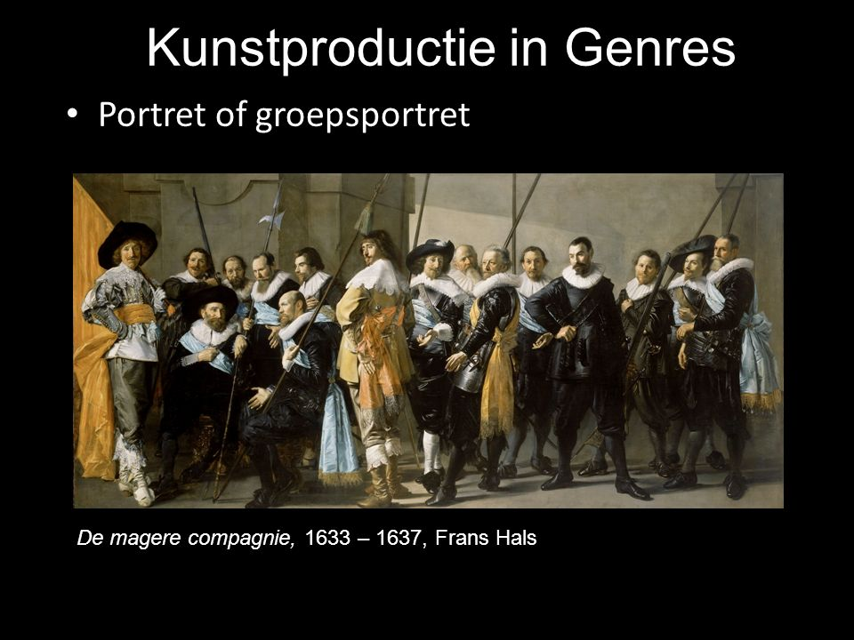 Kunstproductie in Genres