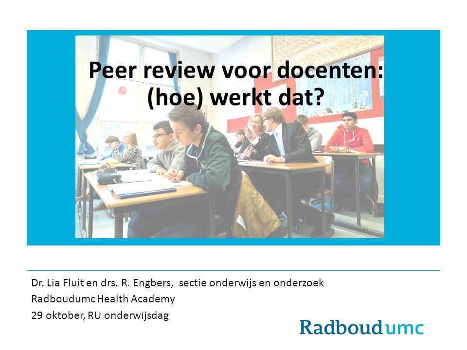 Peer review voor docenten: (hoe) werkt dat