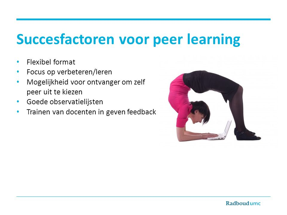 Succesfactoren voor peer learning
