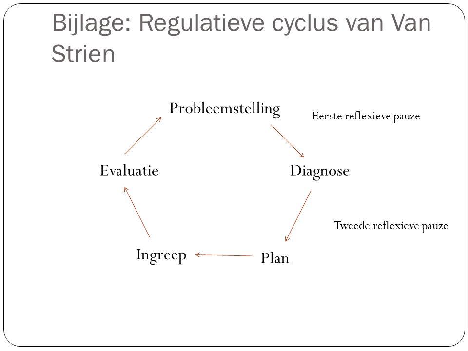 Bijlage: Regulatieve cyclus van Van Strien
