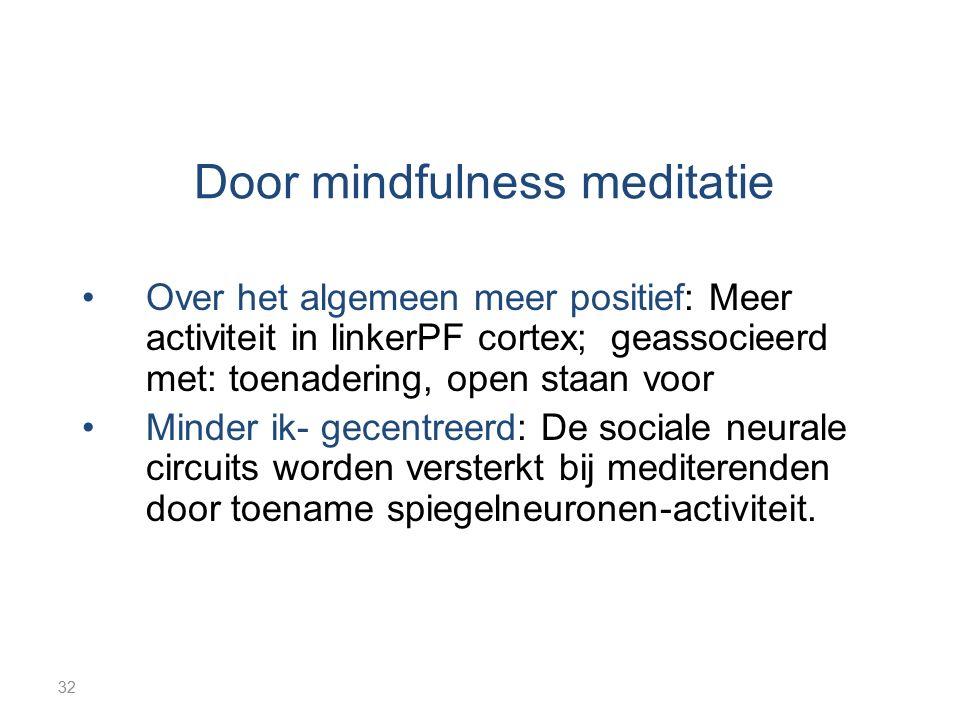 Door mindfulness meditatie