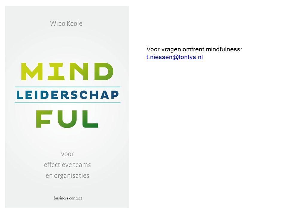 Voor vragen omtrent mindfulness: t.niessen@fontys.nl