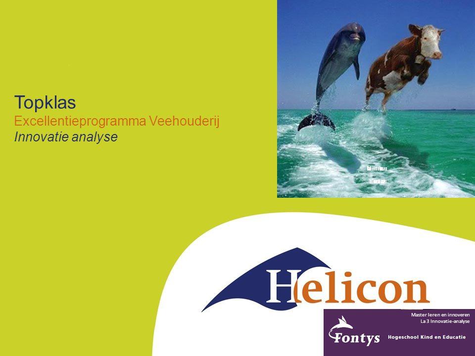 Topklas Excellentieprogramma Veehouderij Innovatie analyse