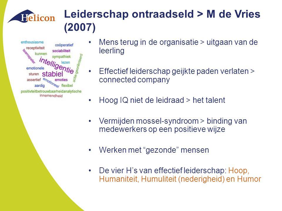 Leiderschap ontraadseld > M de Vries (2007)