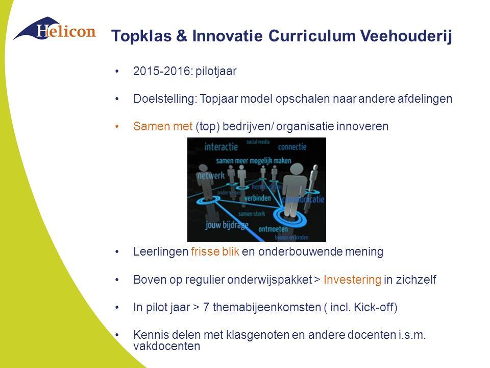 Topklas & Innovatie Curriculum Veehouderij
