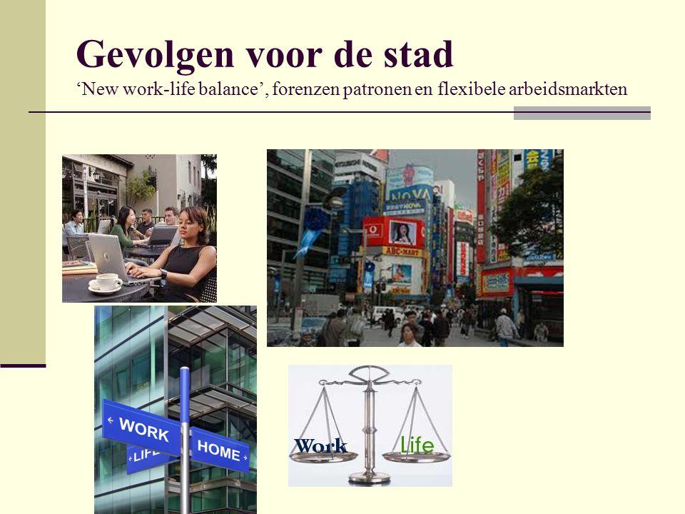 Gevolgen voor de stad 'New work-life balance', forenzen patronen en flexibele arbeidsmarkten