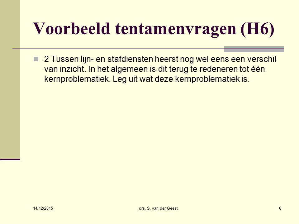Voorbeeld tentamenvragen (H6)