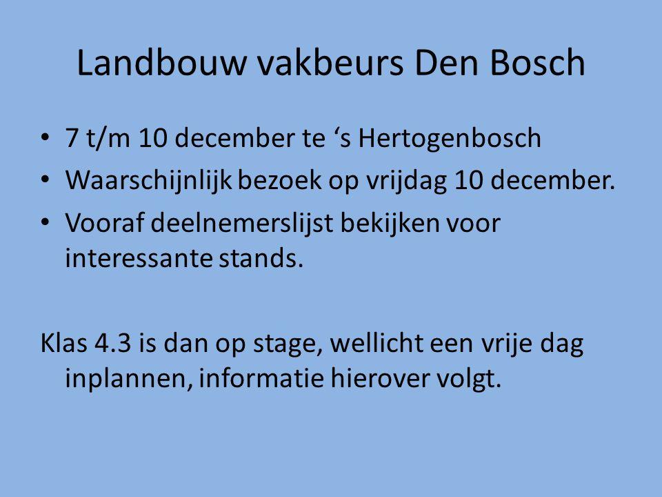 Landbouw vakbeurs Den Bosch