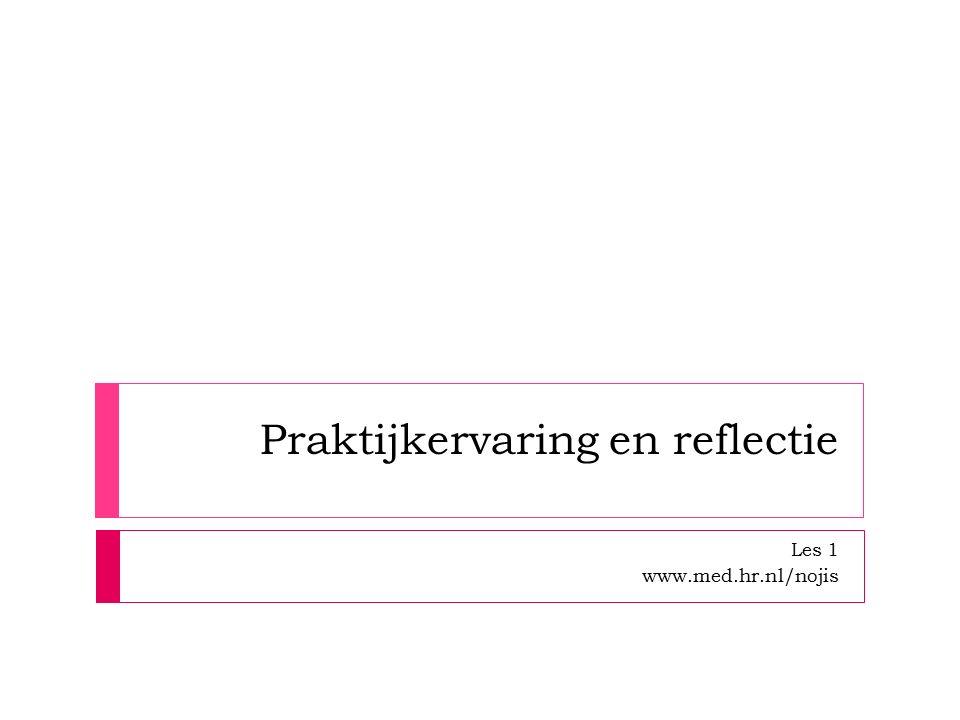 Praktijkervaring en reflectie