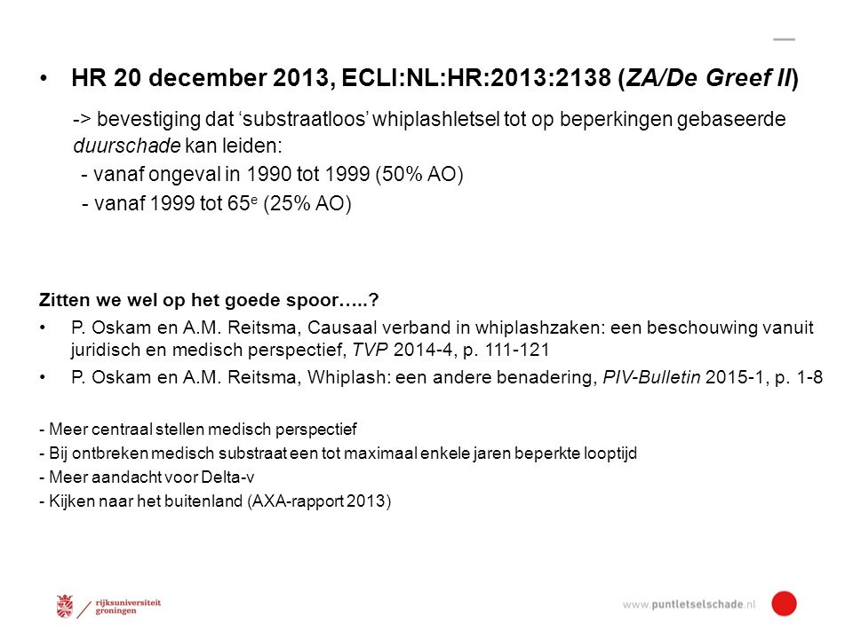 HR 20 december 2013, ECLI:NL:HR:2013:2138 (ZA/De Greef II)