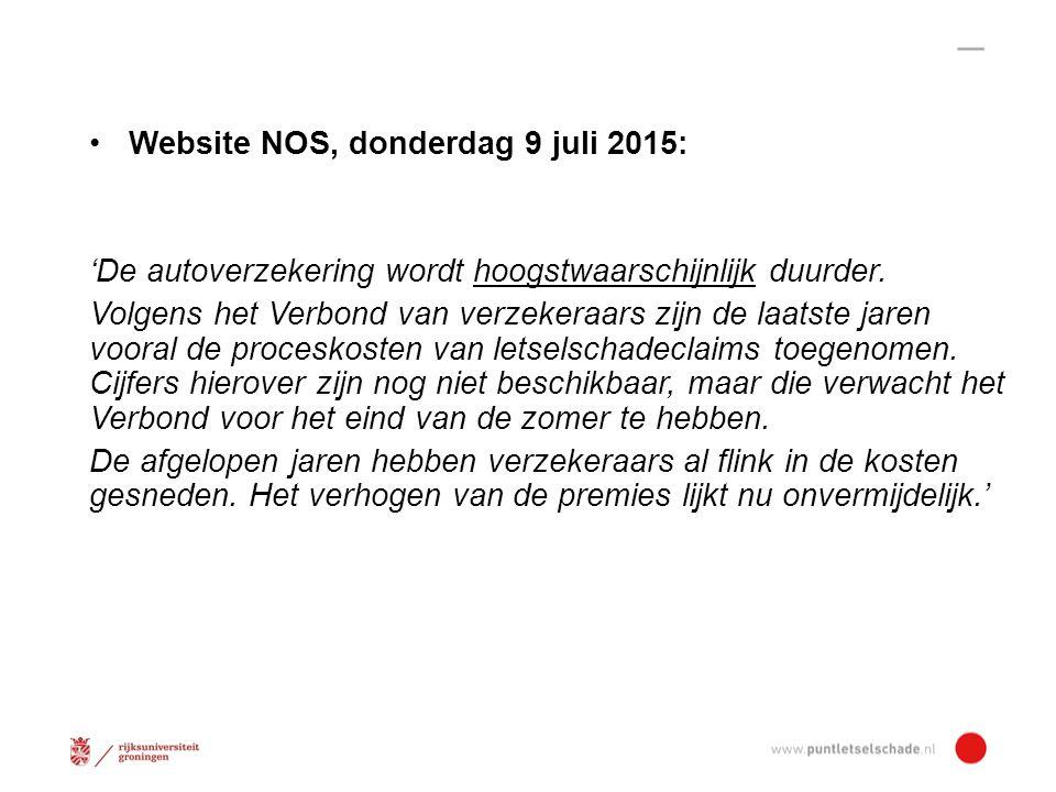 Website NOS, donderdag 9 juli 2015: