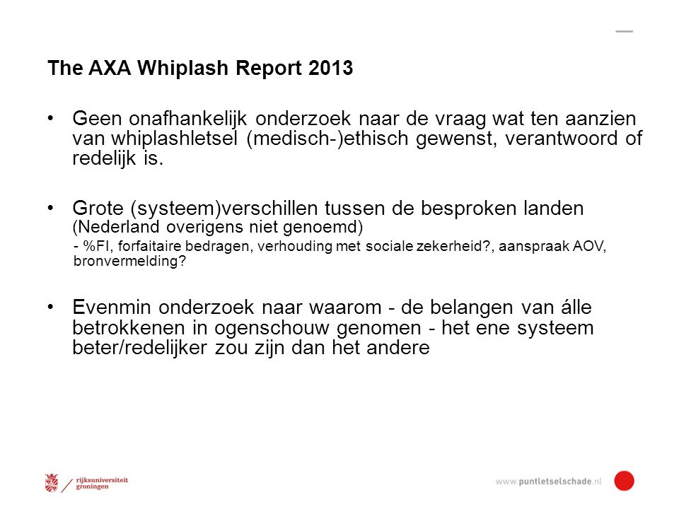 The AXA Whiplash Report 2013