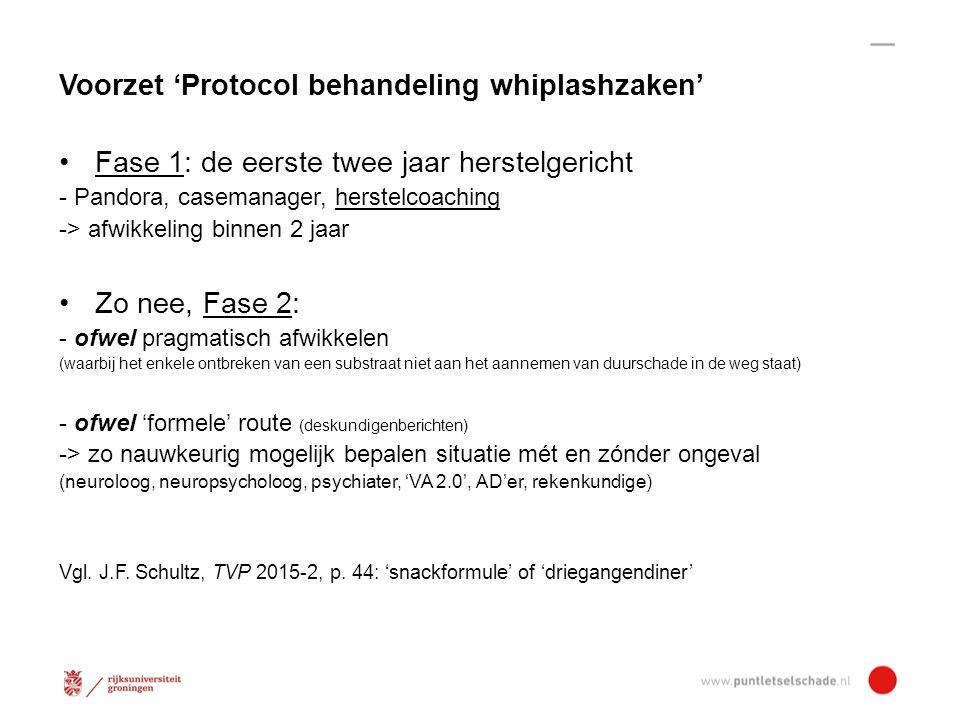 Voorzet 'Protocol behandeling whiplashzaken'