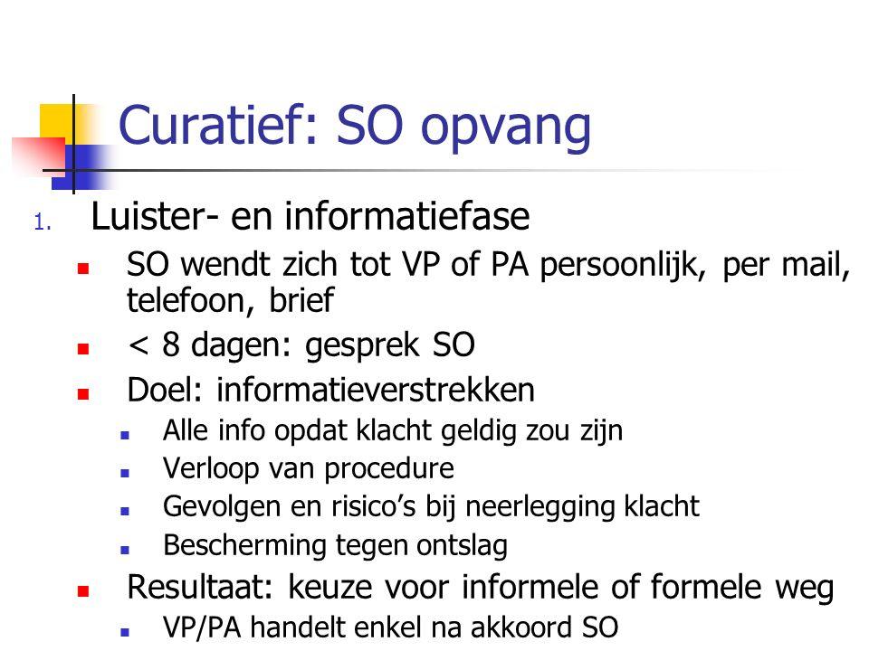 Curatief: SO opvang Luister- en informatiefase