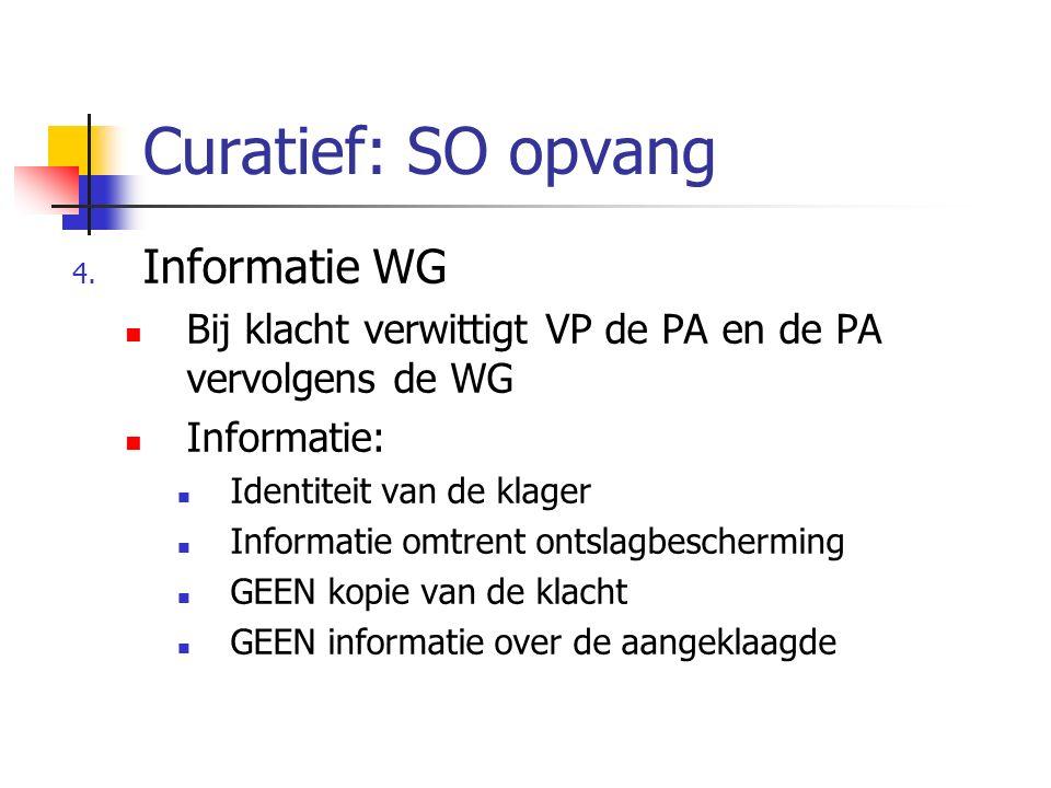 Curatief: SO opvang Informatie WG