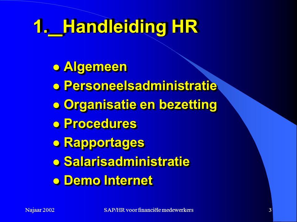 SAP/HR voor financiële medewerkers