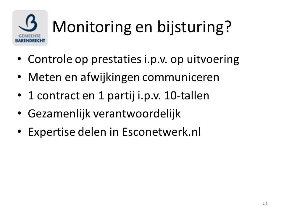 Monitoring en bijsturing