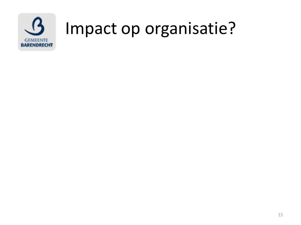 Impact op organisatie