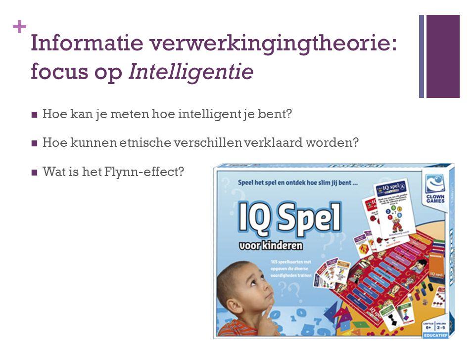 Informatie verwerkingingtheorie: focus op Intelligentie